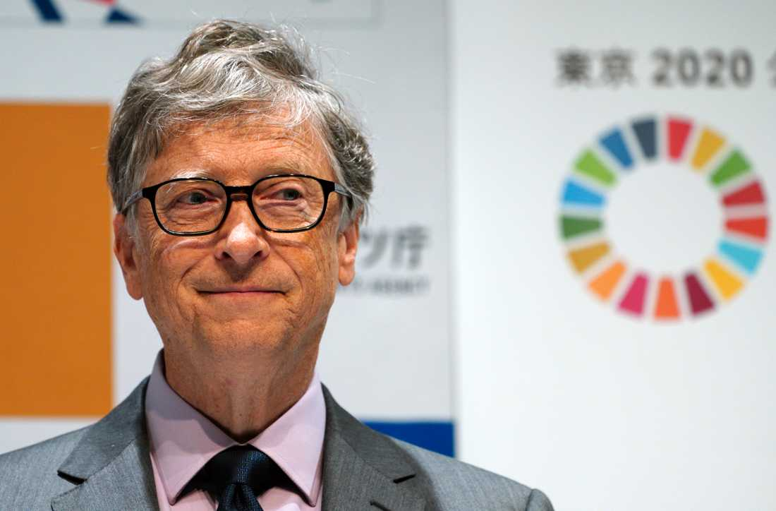 Tidigare Microsoft-vd:n Bill Gates på möte i Tokyo, Japan 2018.