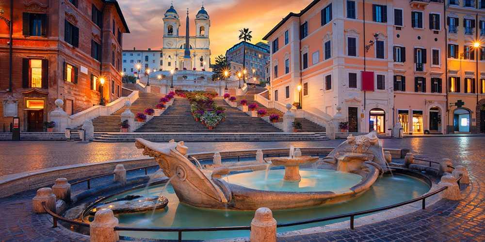 Spanska trappan är en naturlig mötesplats i Rom.