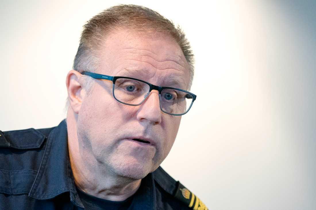 Stefan Sintéus, regional kommenderingschef, anser att polisens arbete med Operation rimfrost ger resultat. Arkivbild.