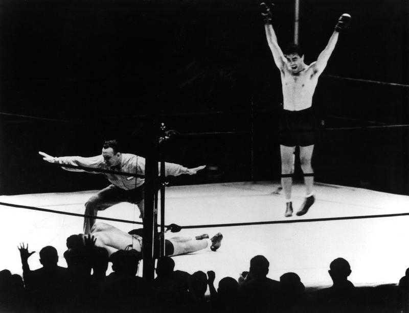 Tysken Max Schmeling vann världsmästerskapet i tungviktsboxning 1936.