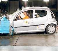 Citroën C1 fick fyra stjärnor. Totalbetyget blev 26 poäng.