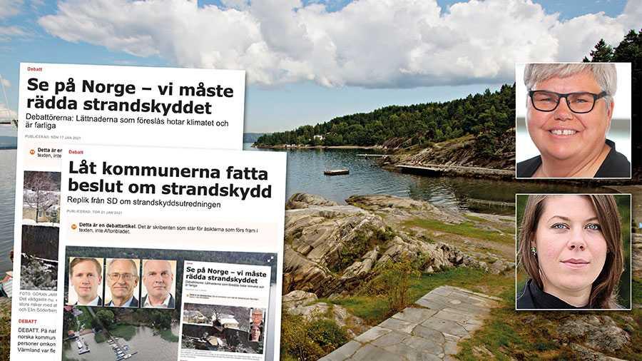 SD vill slopa strandskyddet som en möjlighet till landsbygdsutveckling. Det skulle måhända gynna den som har råd att själv bygga en sommarstuga vid vattnet. Men att tro att uppluckringar av strandskyddet skulle lösa alla problem är kortsynt. Slutreplik från Maria Gardfjell och Elin Söderberg.