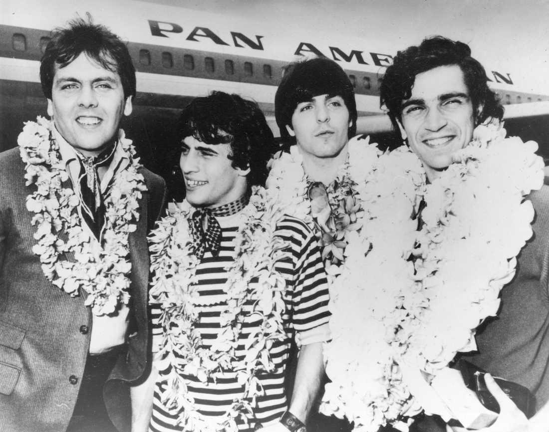 Amerikanska rockbandet The Rascals, från vänster Gene Cornish, Eddie Brigati, Dino Danelli och Felix Cavaliere.