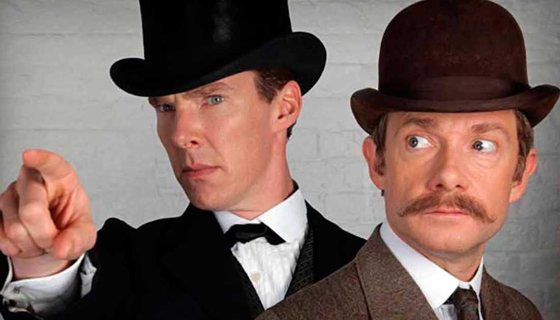 Benedict Cumberbatch och Martin Freeman som Sherlock och Watson.