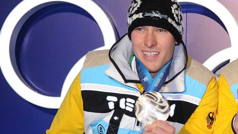 David Möller med silvermedaljen.