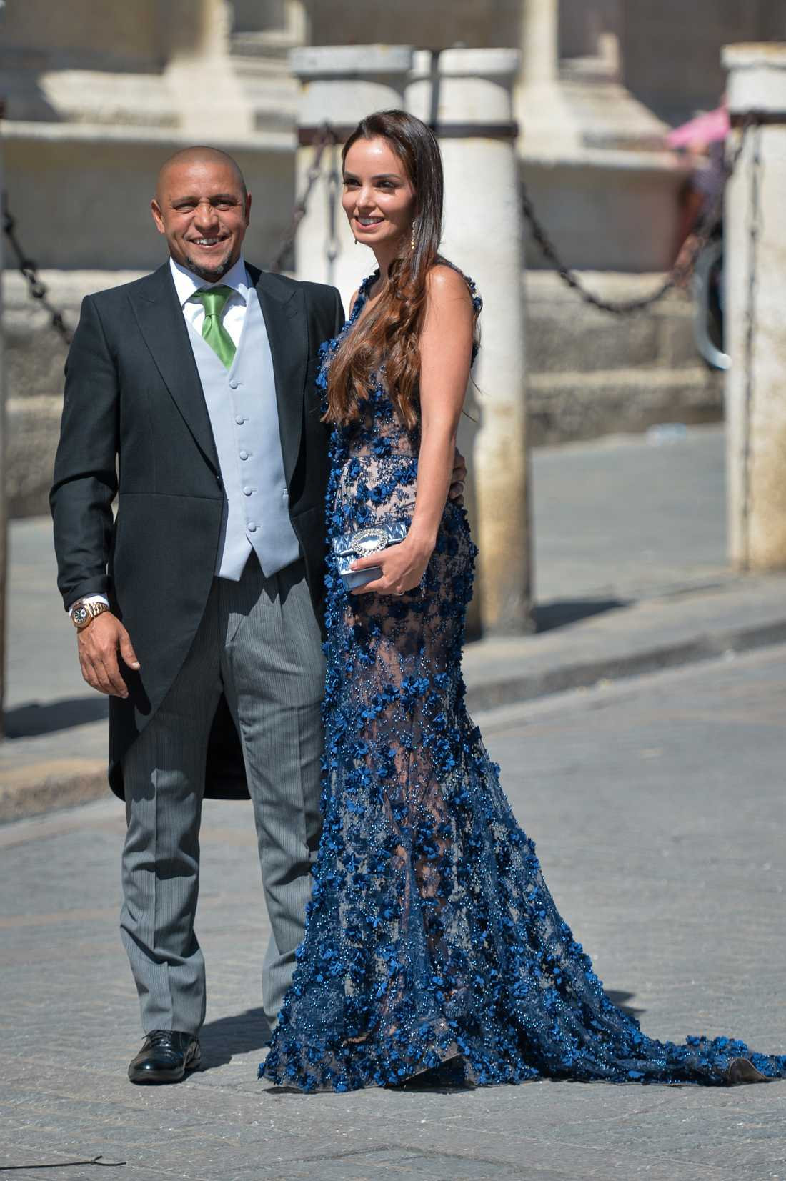 Roberto Carlos med frun Mariana Luccon.
