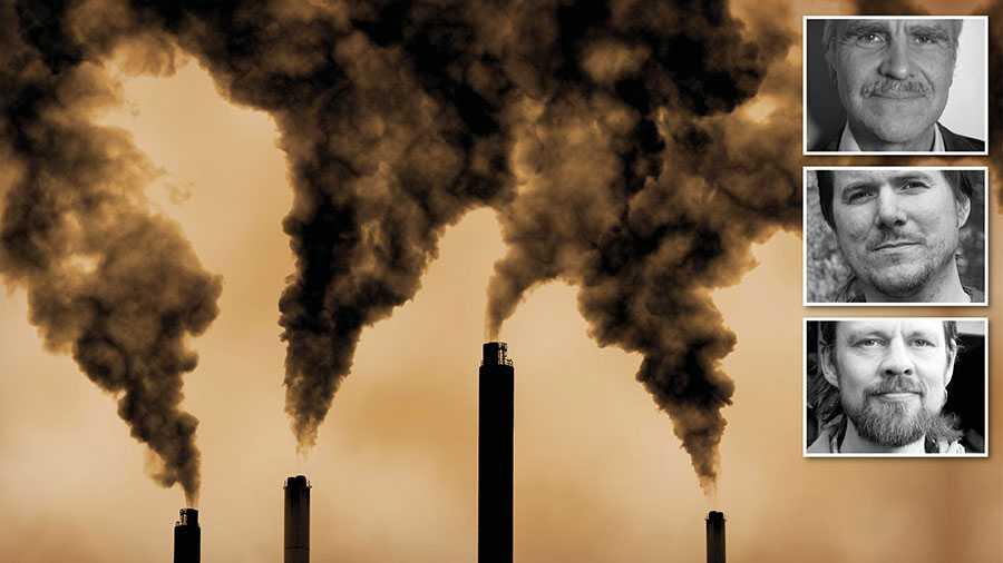 De kraftiga åtgärderna efter coronautbrottet är avslöjande – de tydliggör att våra beslutsfattare inte ser klimathotet som en akut kris, eller ens som en kris, skriver debattörerna.
