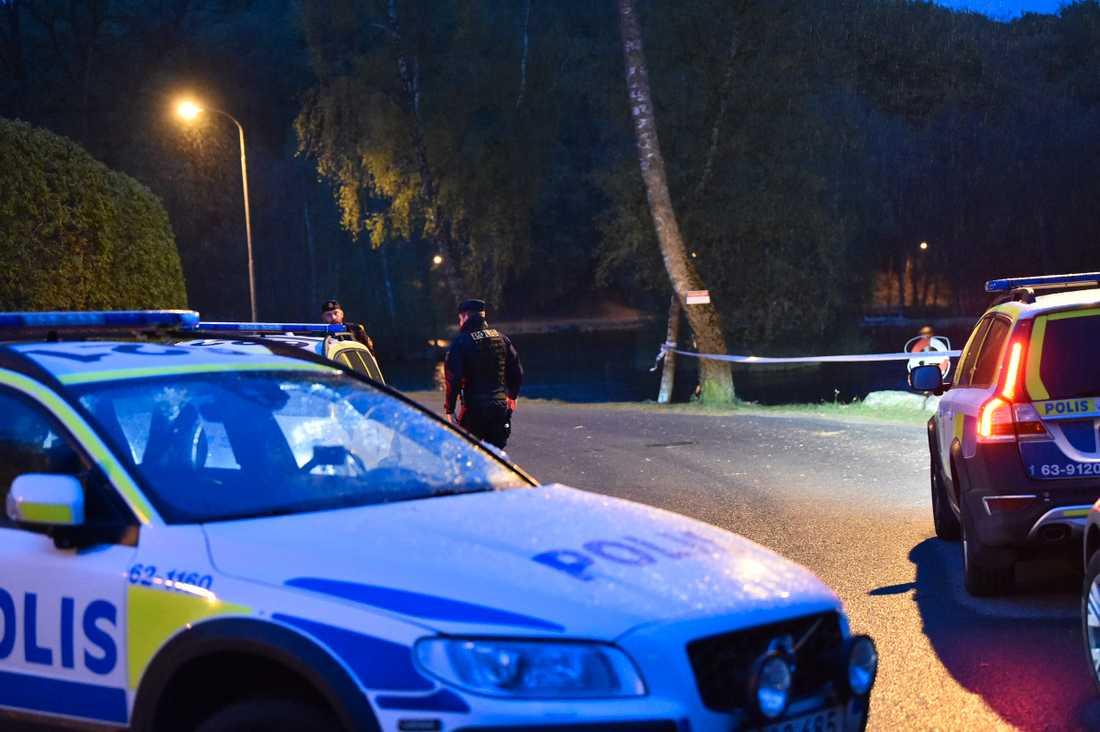 Brottsplatsen i Tyringe.