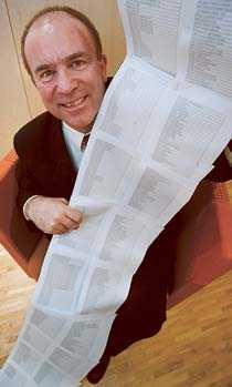 Hans Jacobson, generaldirektör för ppm med fondlistan inför starten av ppm-systemet.