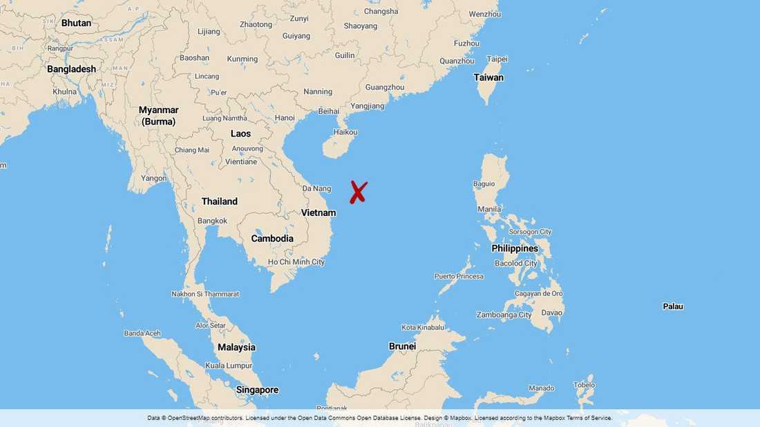Sydkinesiska sjön, även kallat Sydkinesiska havet.