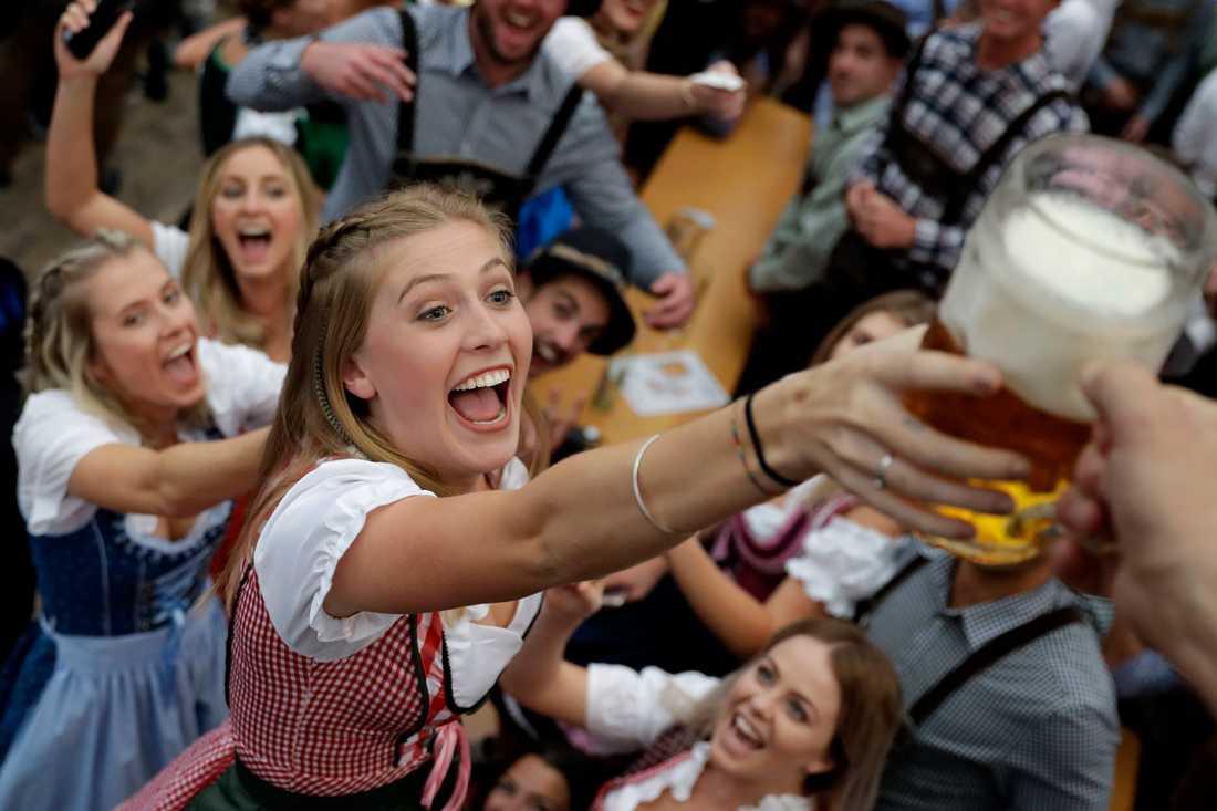 Världens största ölfestival lockar besökare från världens alla hörn till den sydtyska metropolen München. Arkivbild.