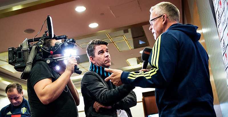 Ekwall intervjuer förbundskapten Janne Andersson.