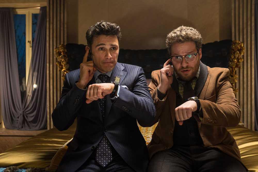 """James Franco och Seth Rogen i den omtalade filmen """"The Interview""""."""