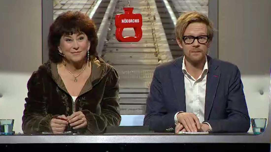 """Marianne Ahrne och Anders """"Ankan"""" Johansson vidare."""