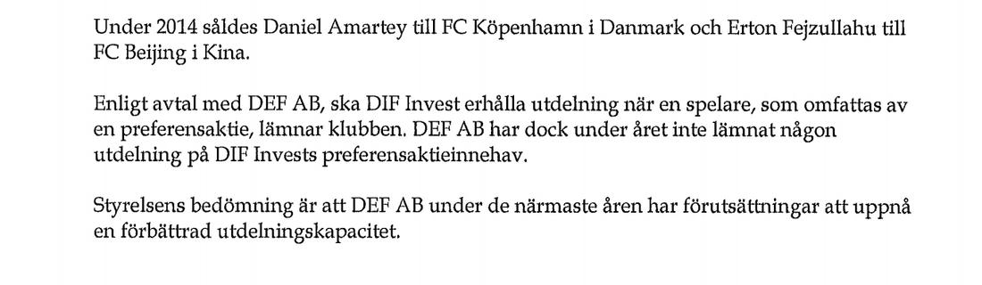 DIF Invests senaste årsrapport (för 2014)