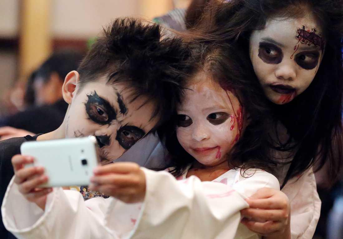 Halloweenfirande förbjuds i mongoliska skolor. Arkivbild