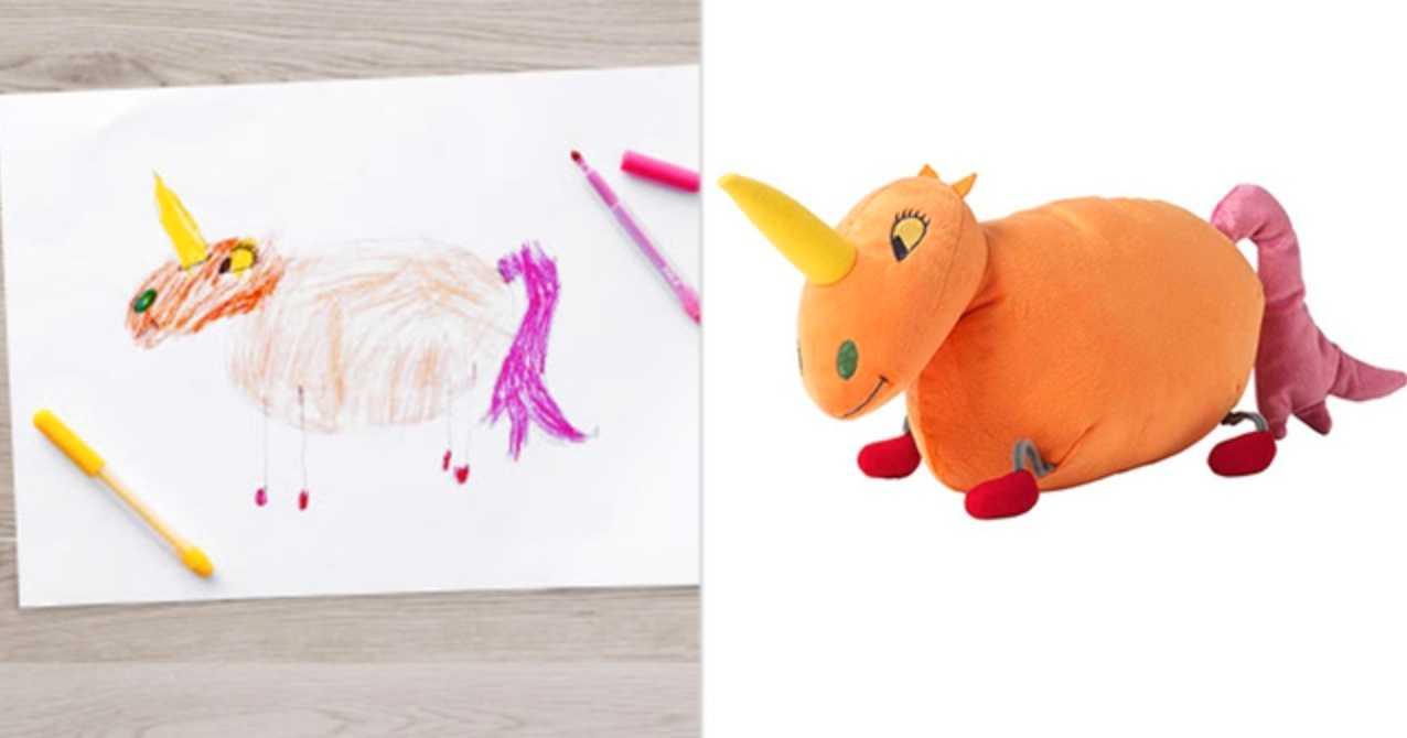 Ikea gör gosedjur av barnens teckningar  3962c43b16975