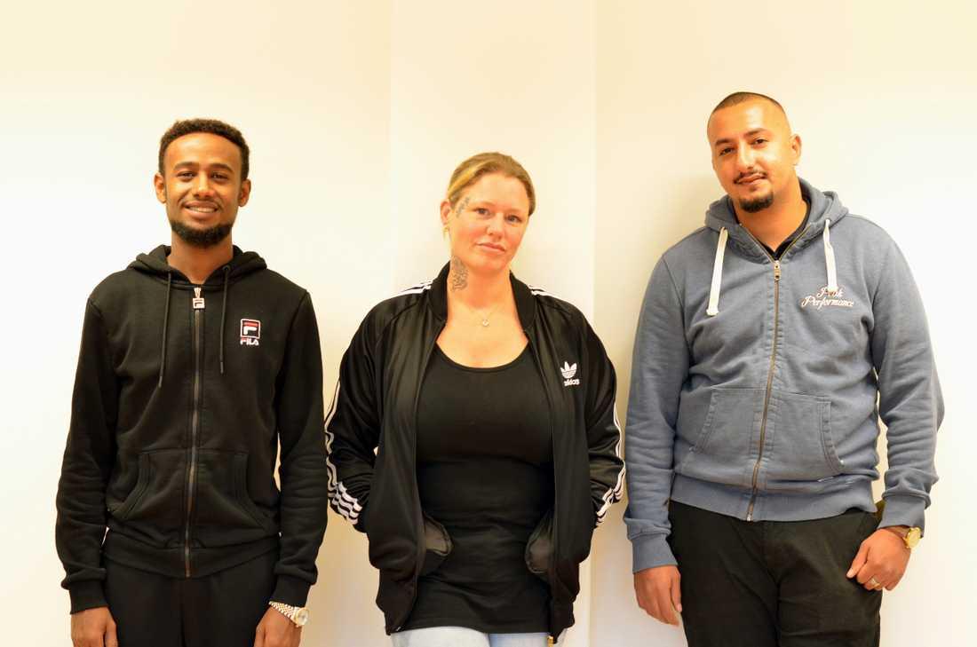 Mohammad, Sandra och Yousief är tre nöjda deltagare på Krami.