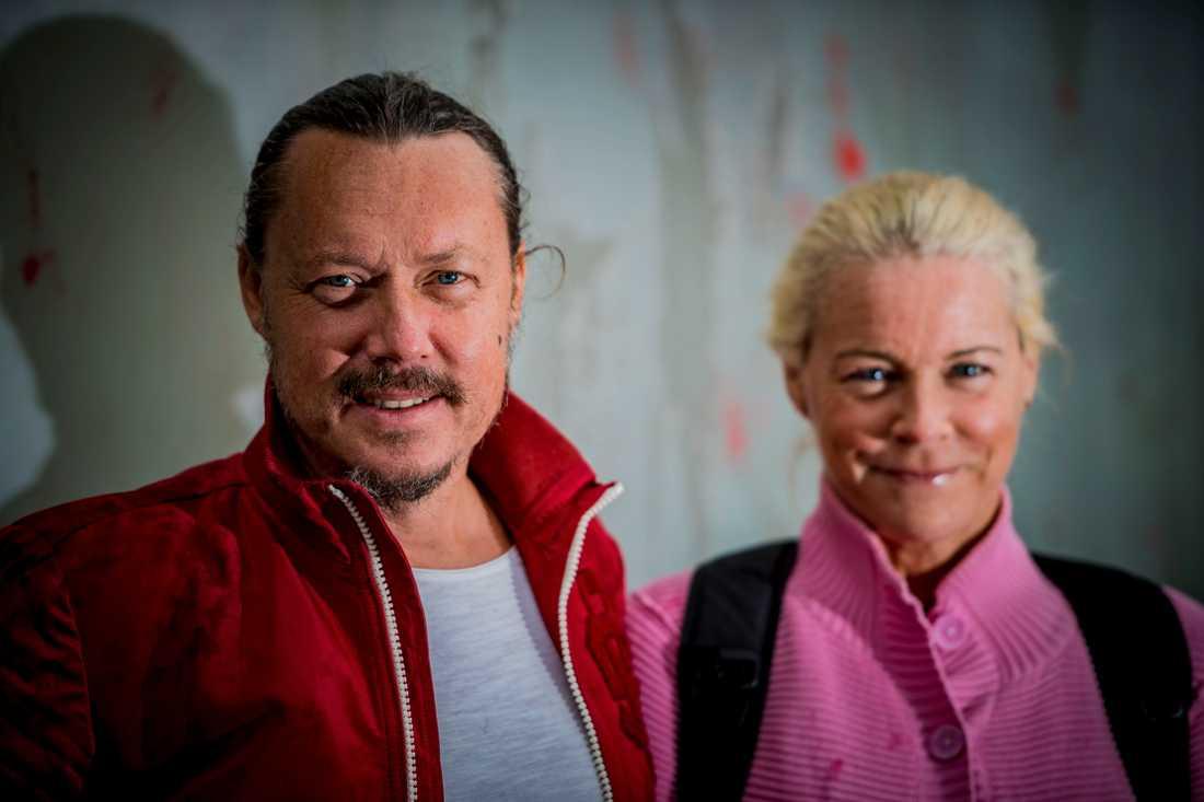 Pappa Svante Thunberg och mamma Marlena Ernman.