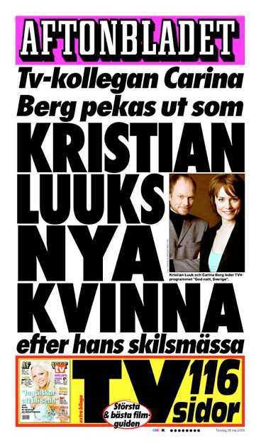 Aftonbladet den 26 maj.
