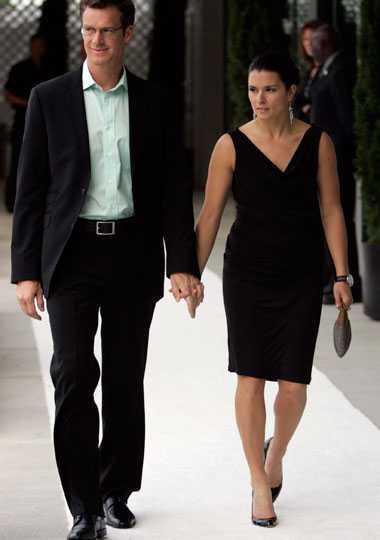 Danica Patrick tillsammans med sin man Paul Hospenthal.