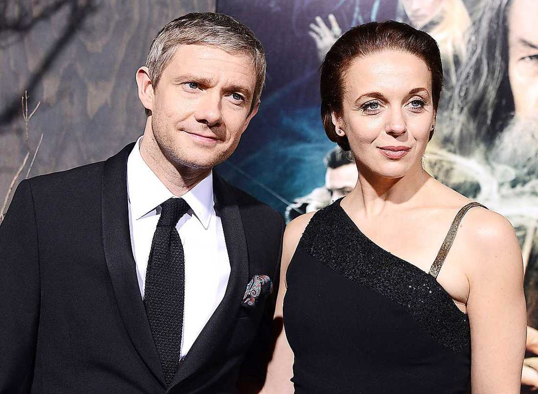 Martin Freeman och hustrun Amanda Abbington.