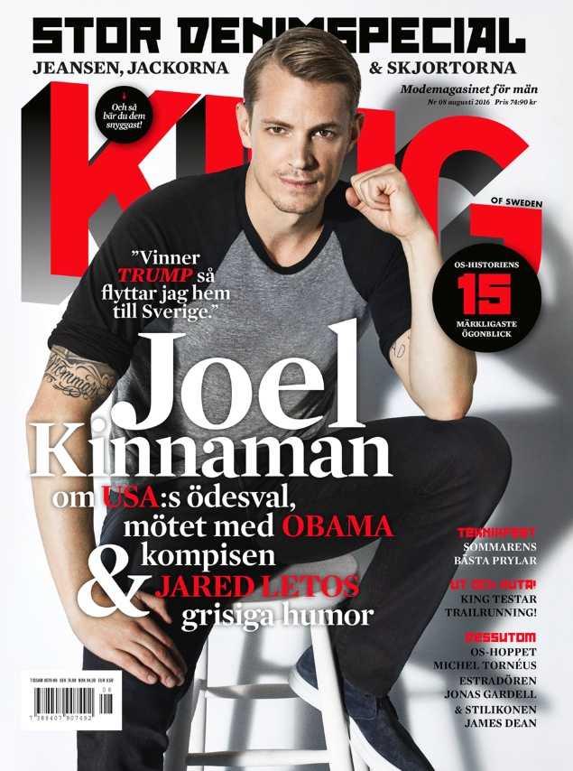 Augustinumret av King med Joel Kinnaman på omslaget finns ute nu.