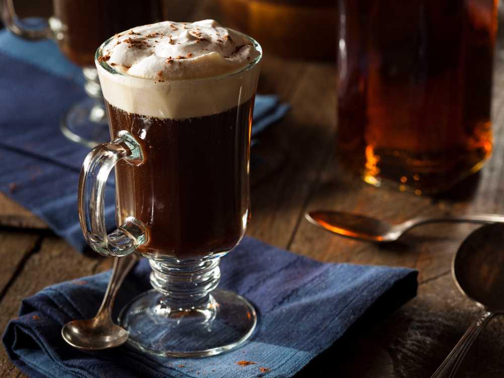 Irish coffee, krämigt god.