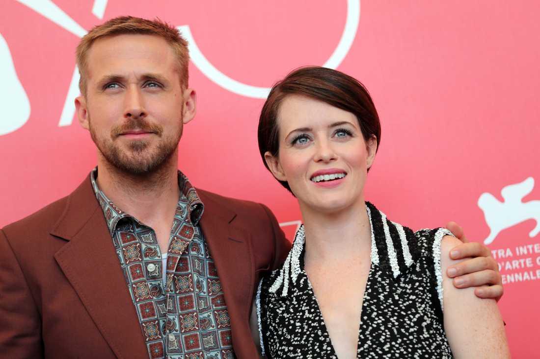 Ryan Gosling och Claire Foy.