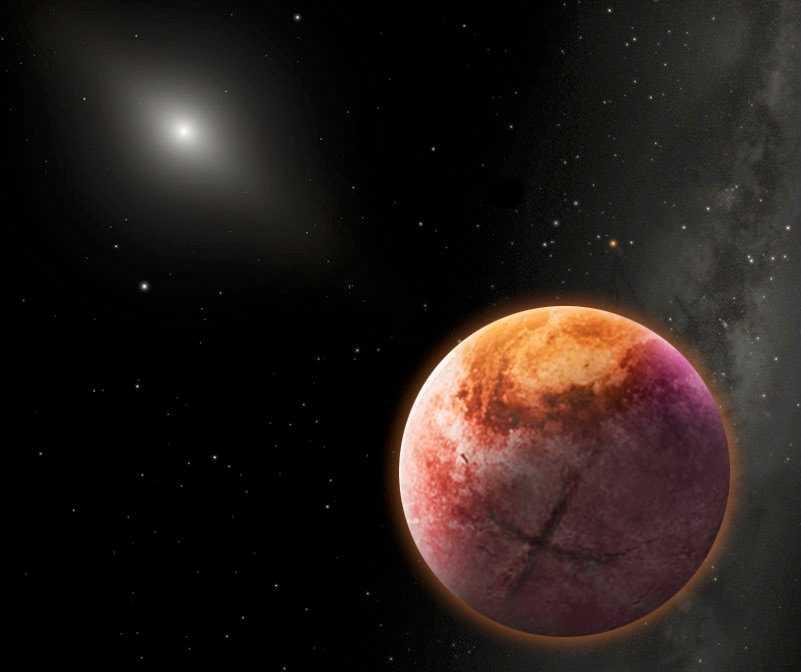 Planet X, den hypotetiska nionde planeten i vårt solsystem.