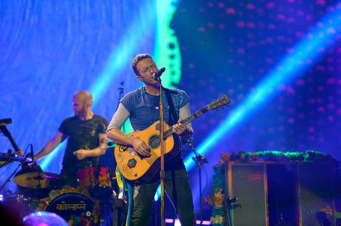 Coldplay på Friends arena i Solna.