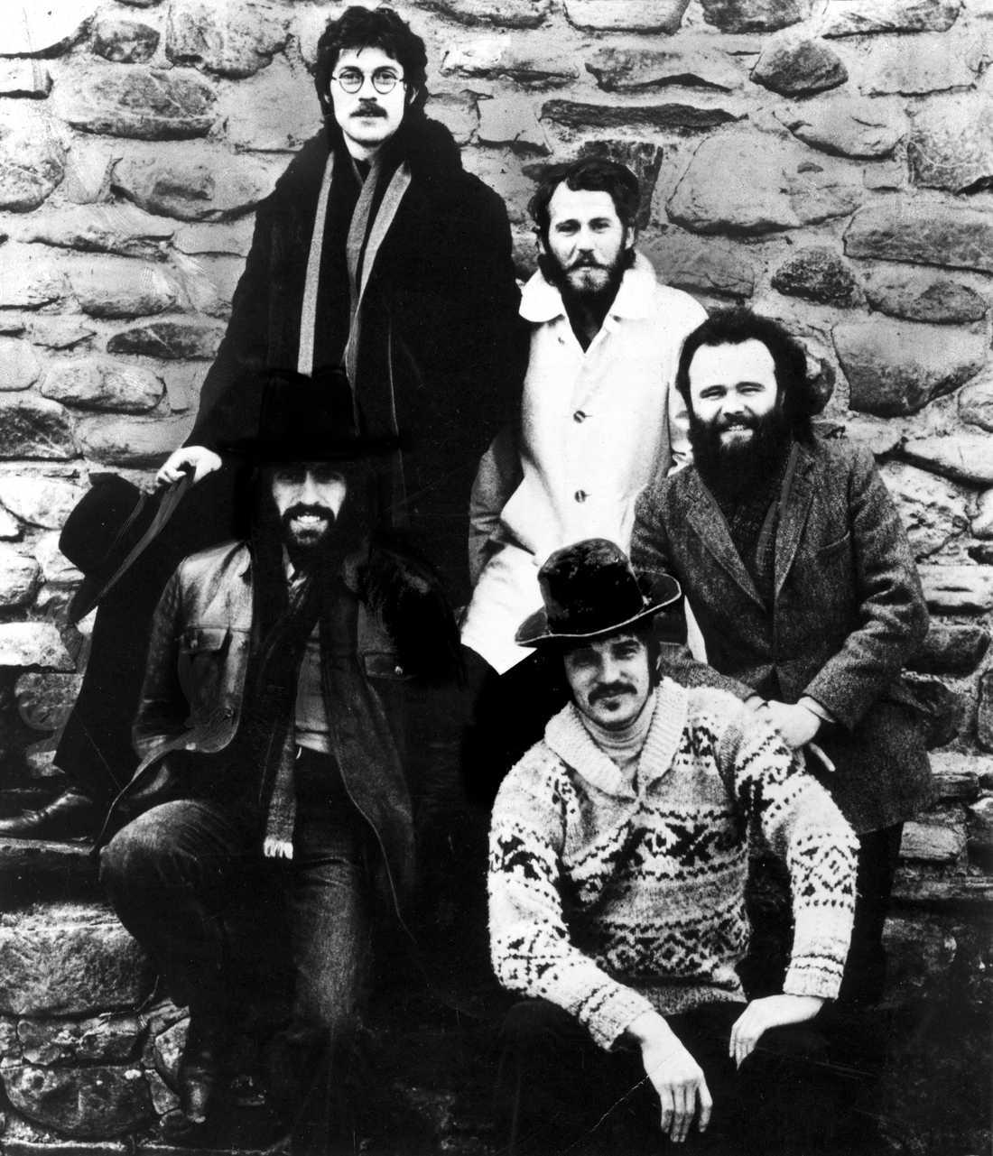 The Band när det begav sig, 1971. Fr v Robbie Robertson, Levon Helm, Garth Hudson, nedtill fr v, Richard Manuel och Rick Danko.