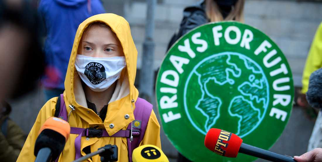 Greta Thunberg fortsätter att strejka för klimatet på fredagar även under coronapandemin.