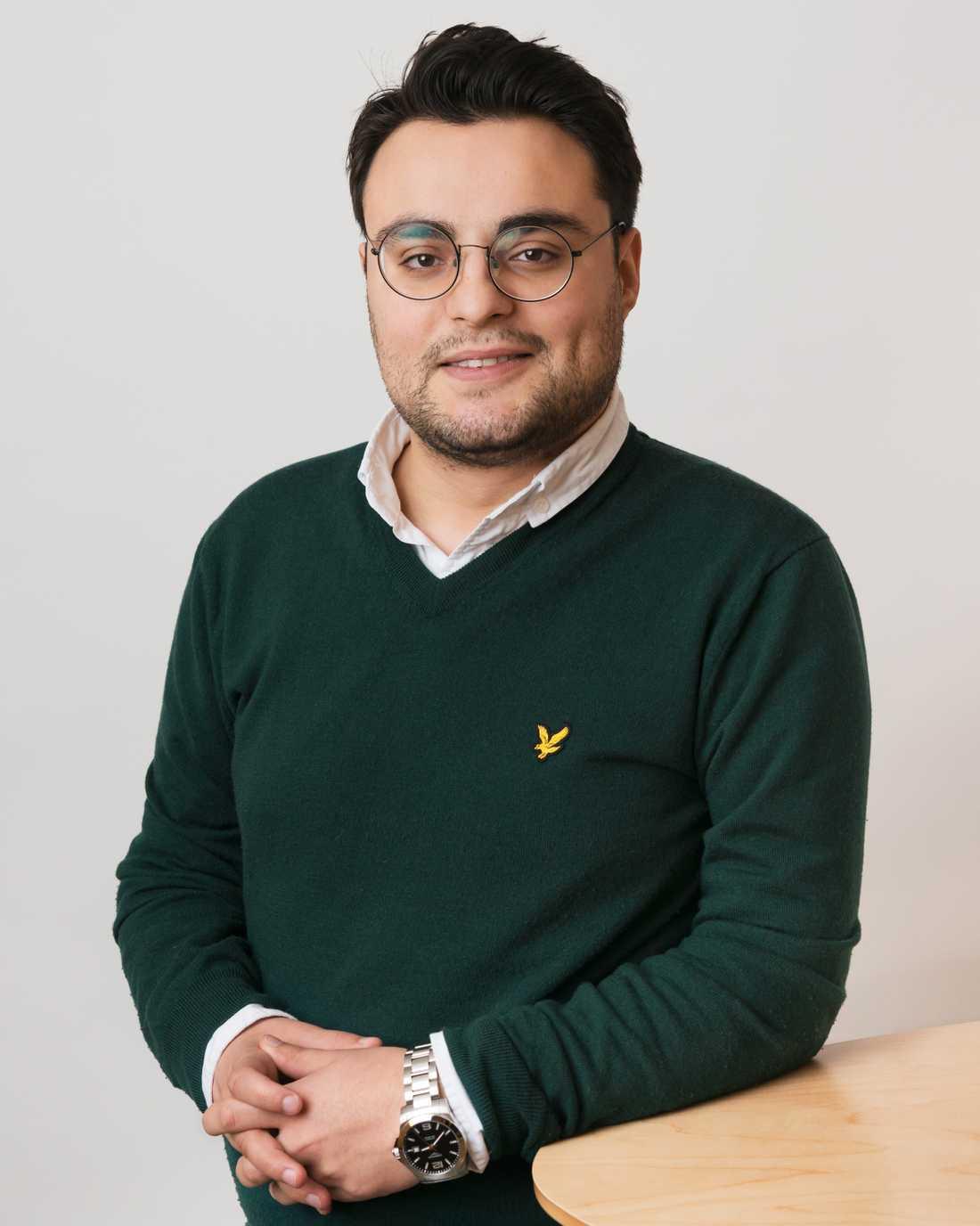 Salar Rashid, kommunpolitiker för Socialdemokraterna.