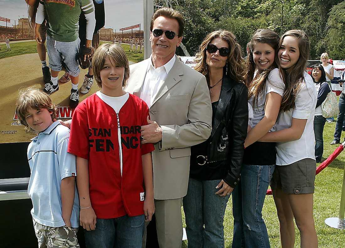 Schwarzenegger med familjen.