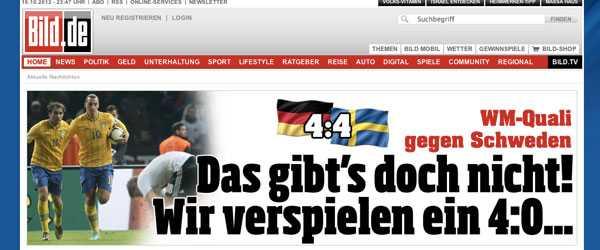 """""""Det är inte sant! Vi spelar bort en 4–0-ledning"""". Tyska rubrikerna direkt efter vändningen hade svårt att fatta vad som hänt."""