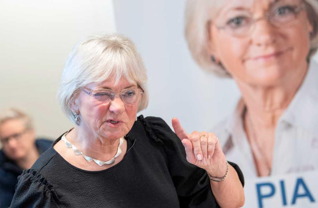 Starkt invandringskritiska Dansk Folkeparti och den tidigare partiledaren Pia Kjærsgaard, numera talman i folketinget, väntas få ett halverat stöd och göra ett katastrofval. Arkivbild.