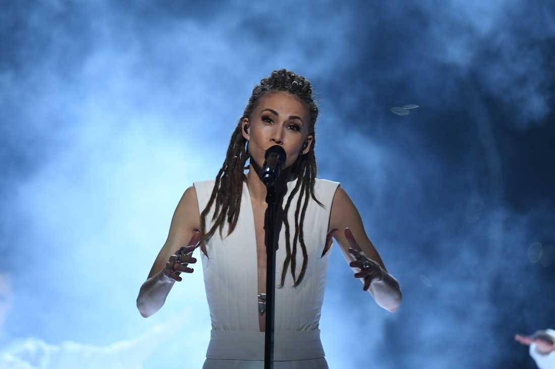 Mariette i Melodifestivalen 2017.