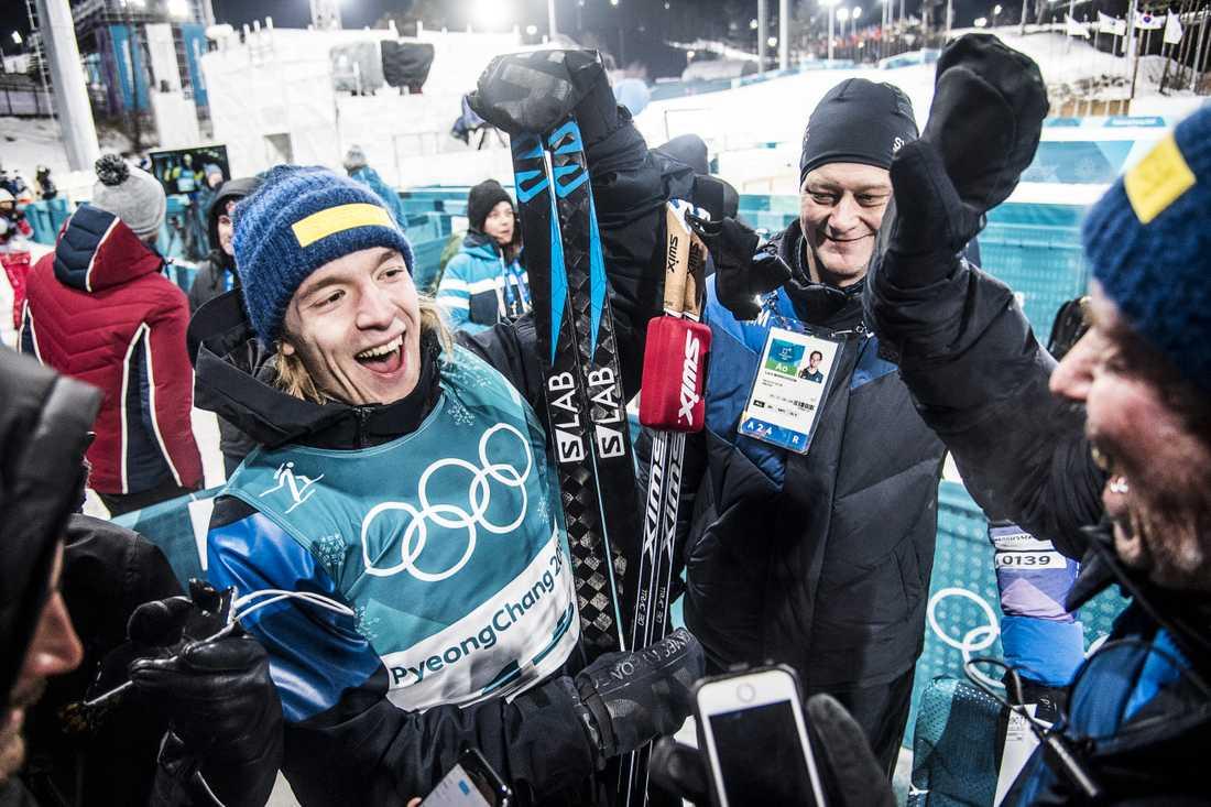 Sebastian Samuelsson och Wolfgang Pichler under OS 2018.