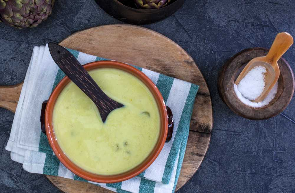 Jordärtskockssoppa, krämig och god.