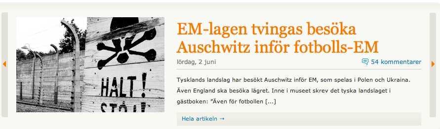 Antisemitisk sajt. Fler rubriker från Nationell.nu