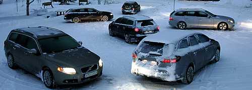 I oktober 2007 utsågs nya Volvo V70 till testvinnare. Frågan är om V70 tål snö lika bra.