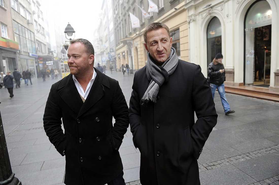 Daniel Webb och Milan Sevo.