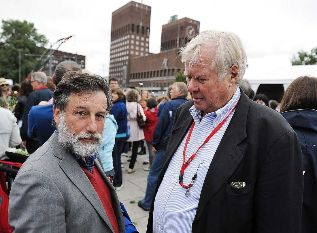 Aftonbladets Staffan Heimerson med Leif Pagrotsky i Oslo.