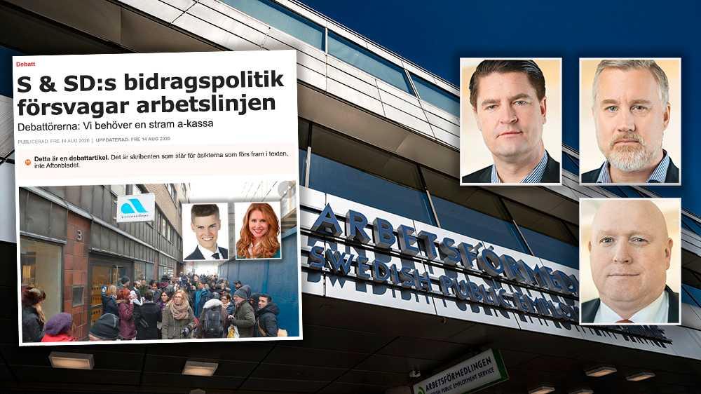 Coronakrisen har tydligt visat på vikten av starka sociala skyddsnät. Arbetslösheten har varit ett problem i många år. Det Sverige behöver är därför en stram invandringspolitik på riktigt och ett samhälle där alla bidrar, skriver Oscar Sjöstedt, Magnus Persson och Jonas Andersson (SD).