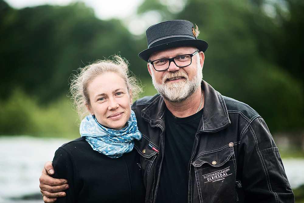 Sofia Johansson, arbetsledare på frilandsplanteringen och Bosse Rappne som driver Ullriksdals Slottsträdgård.