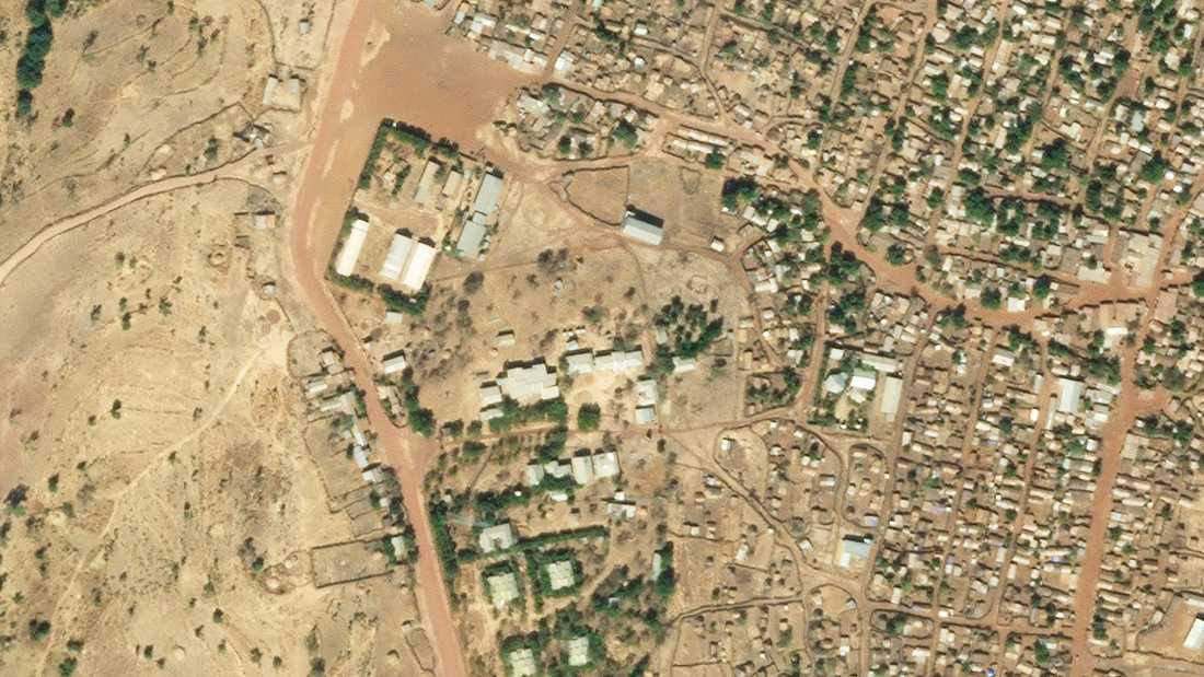 En satellitbild visar lägret Shimelb den 10 december i fjol. Arkivbild.