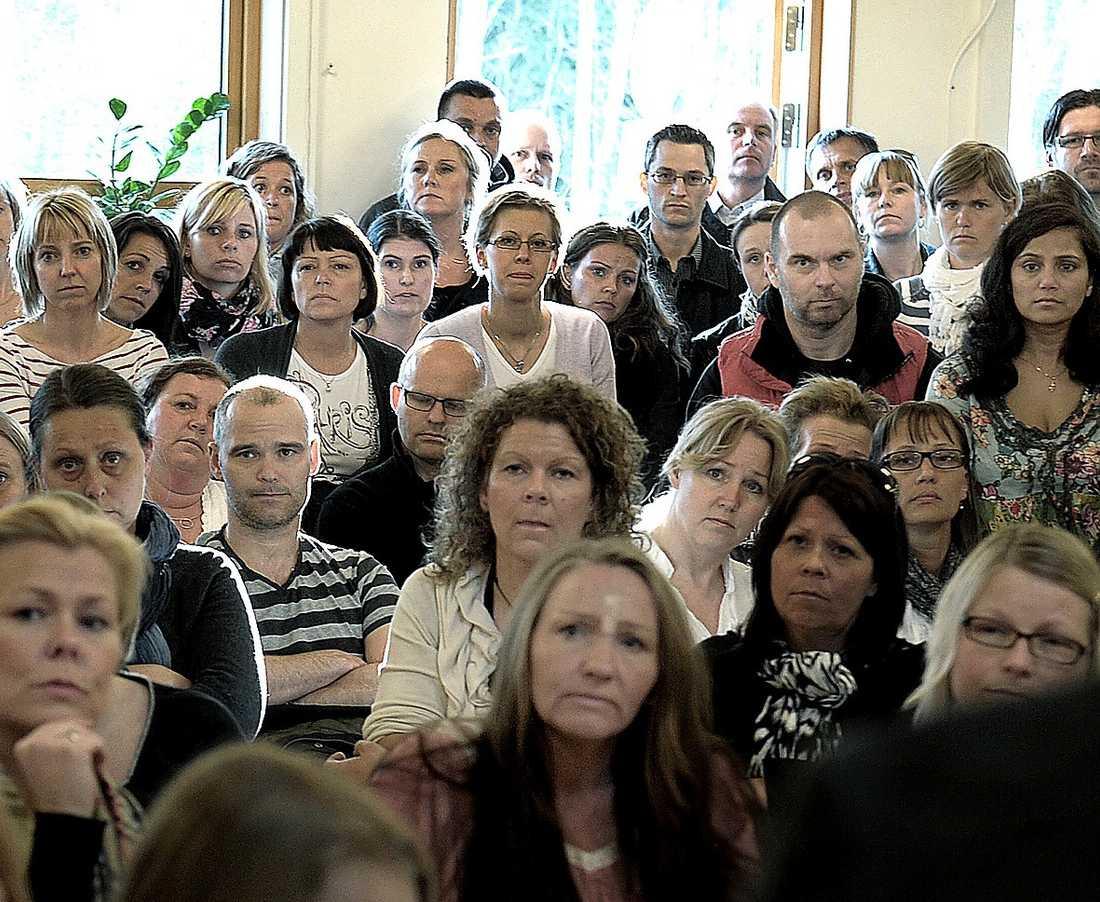 På Sjömarkenskolan i Borås ställde föräldrarna politikerna mot väggen.
