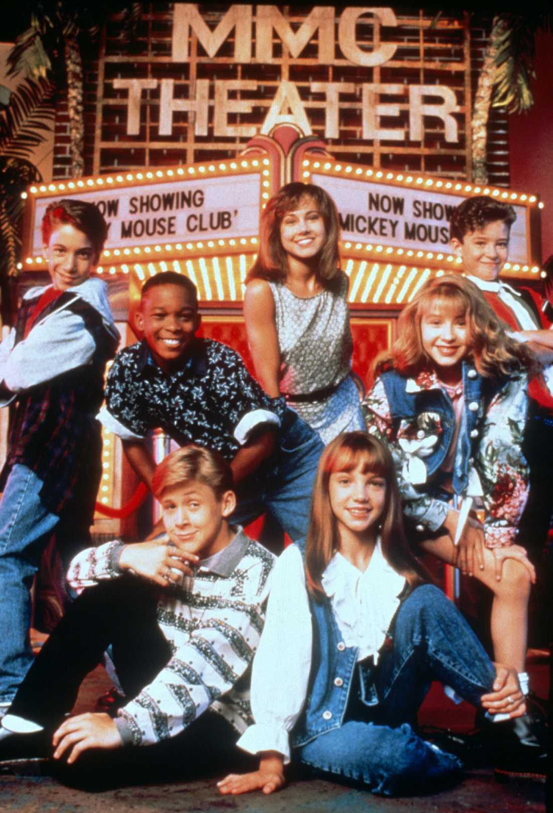 """Barnstjärnorna i """"The Mickey Mouse Club"""". Marque Lynche är andra från vänster i bakre raden."""