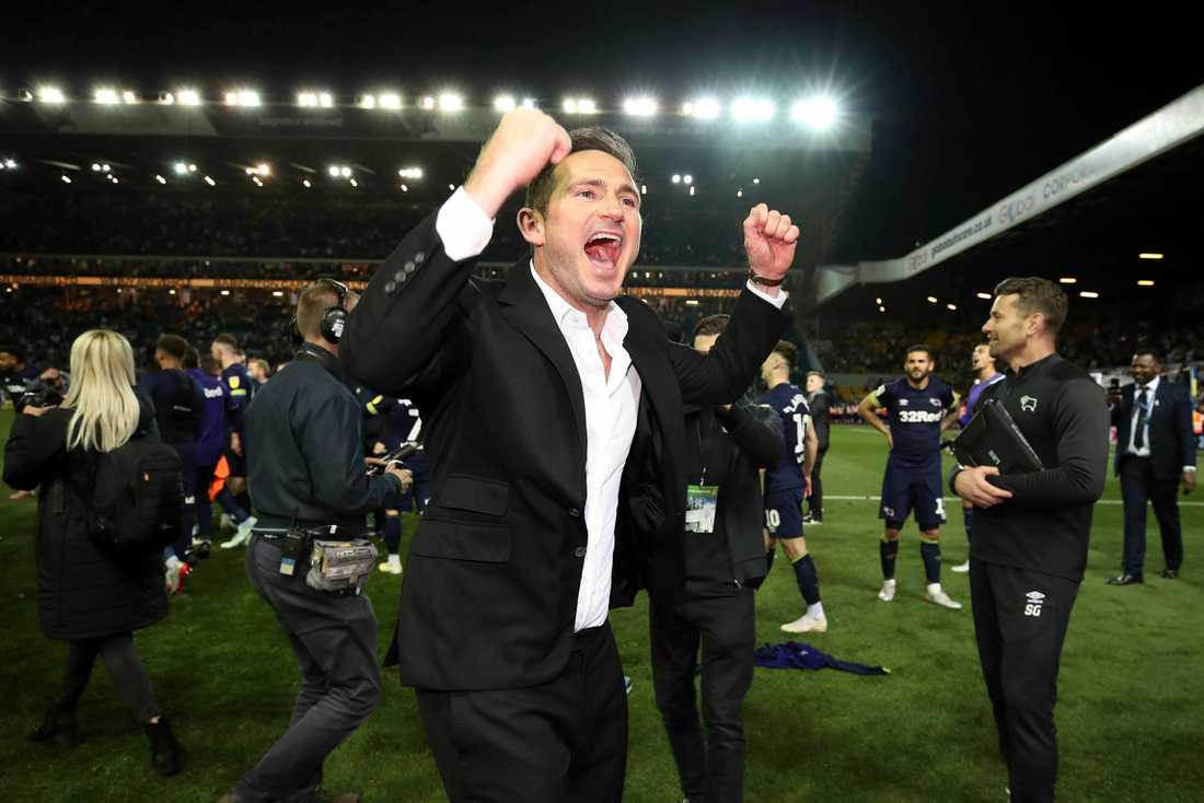 Frank Lampard jublar med sitt Derby.